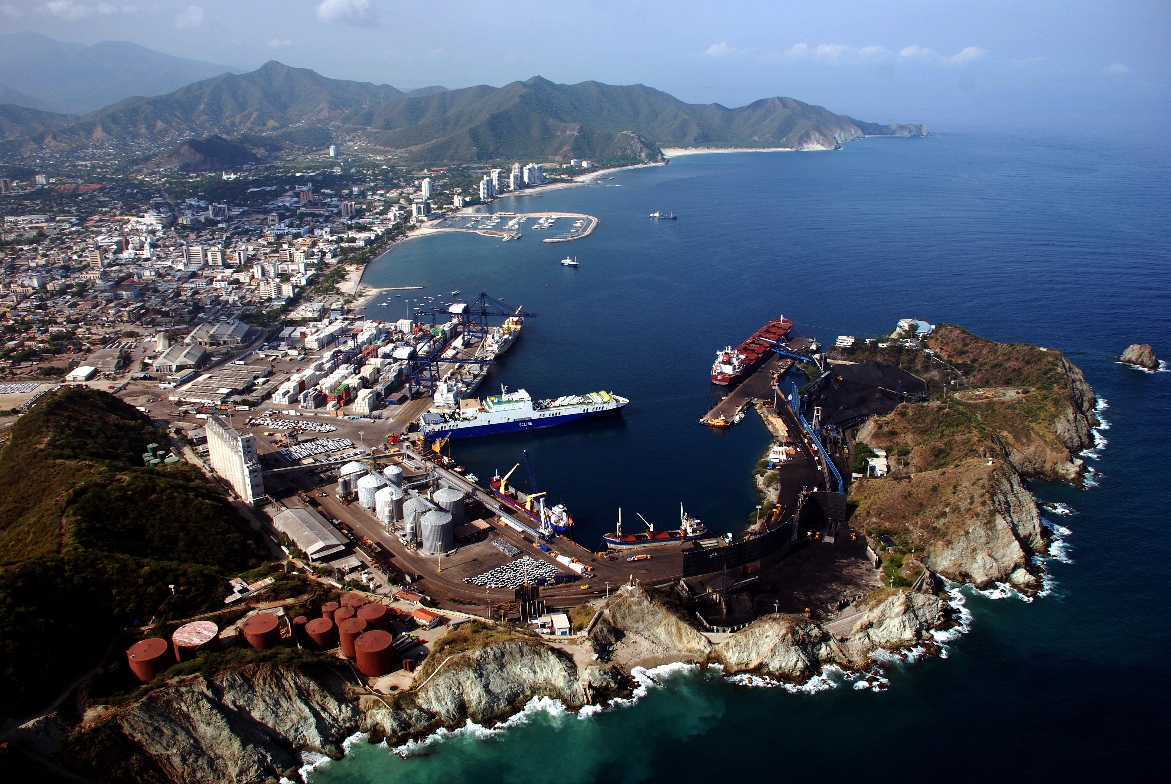 Aerial view of Puerto de Santa Marta
