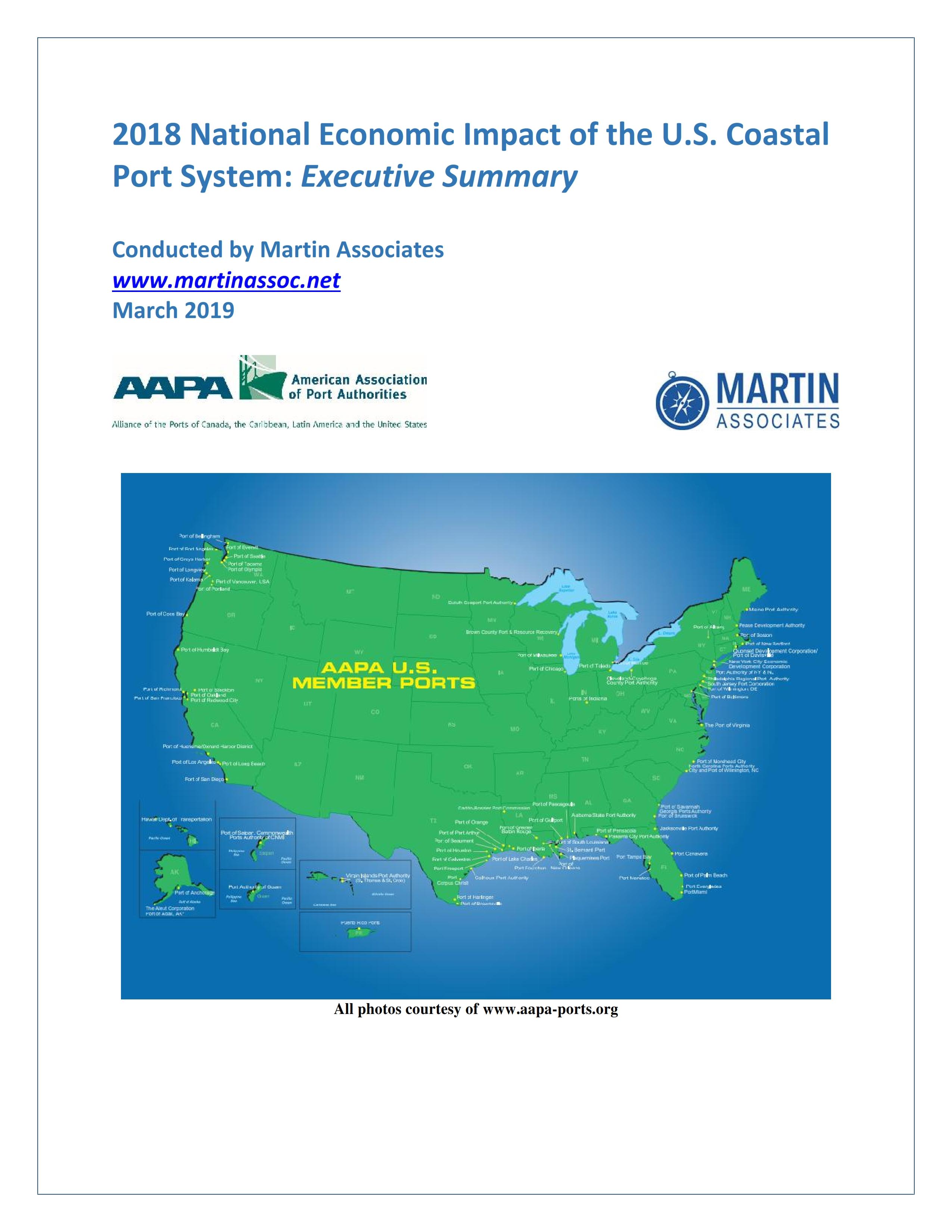 New Us Port Economic Impacts Report Released - Us-east-coast-ports-map