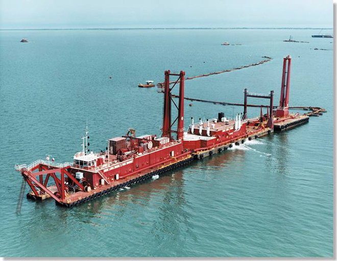 Maintenance dredging of the Houston Ship Channel
